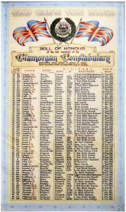 Glamorgan Constabulary - South Wales Police - Roll of Honour