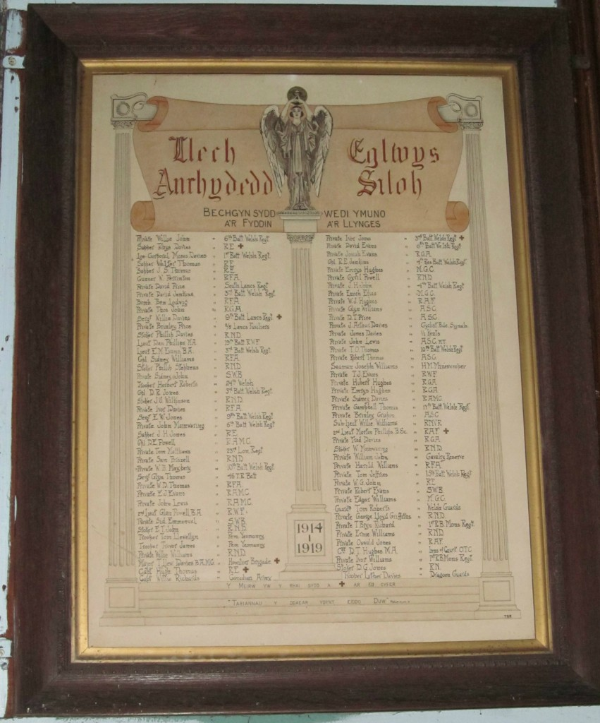 Siloh Glandwr - Roll of Honour_