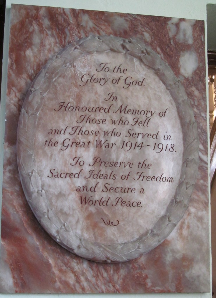 Abersychan - High Street English Baptist WW1 marble memorial__