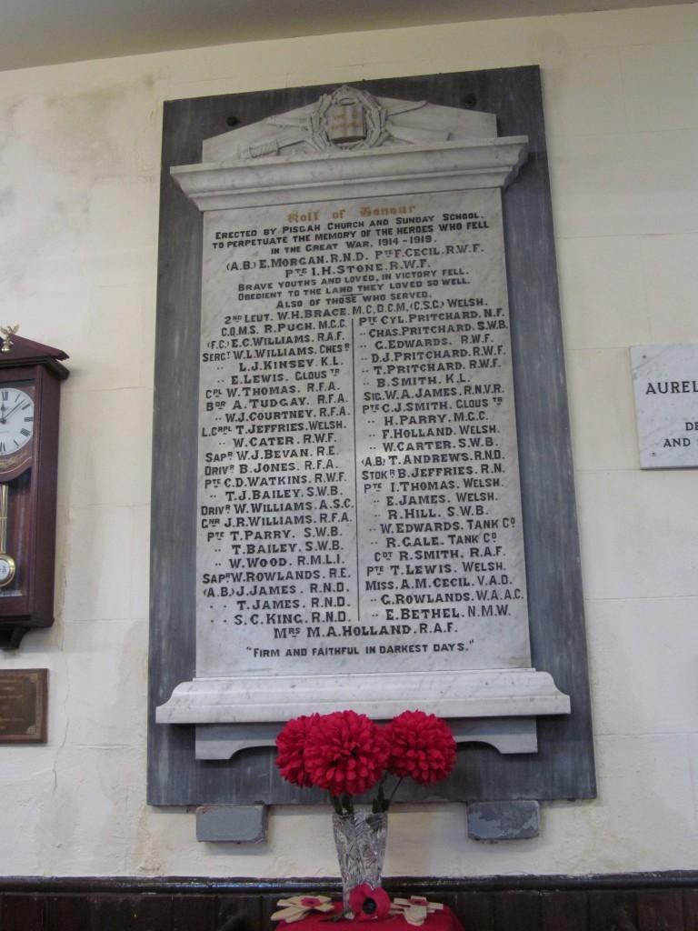 Abersychan - Talywain - Pisgah Baptist WW1 memorial (2)