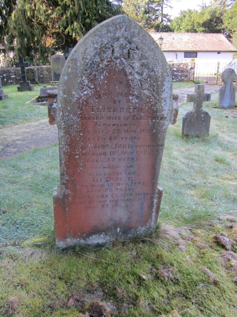Gilbert gravestone Aberyscir
